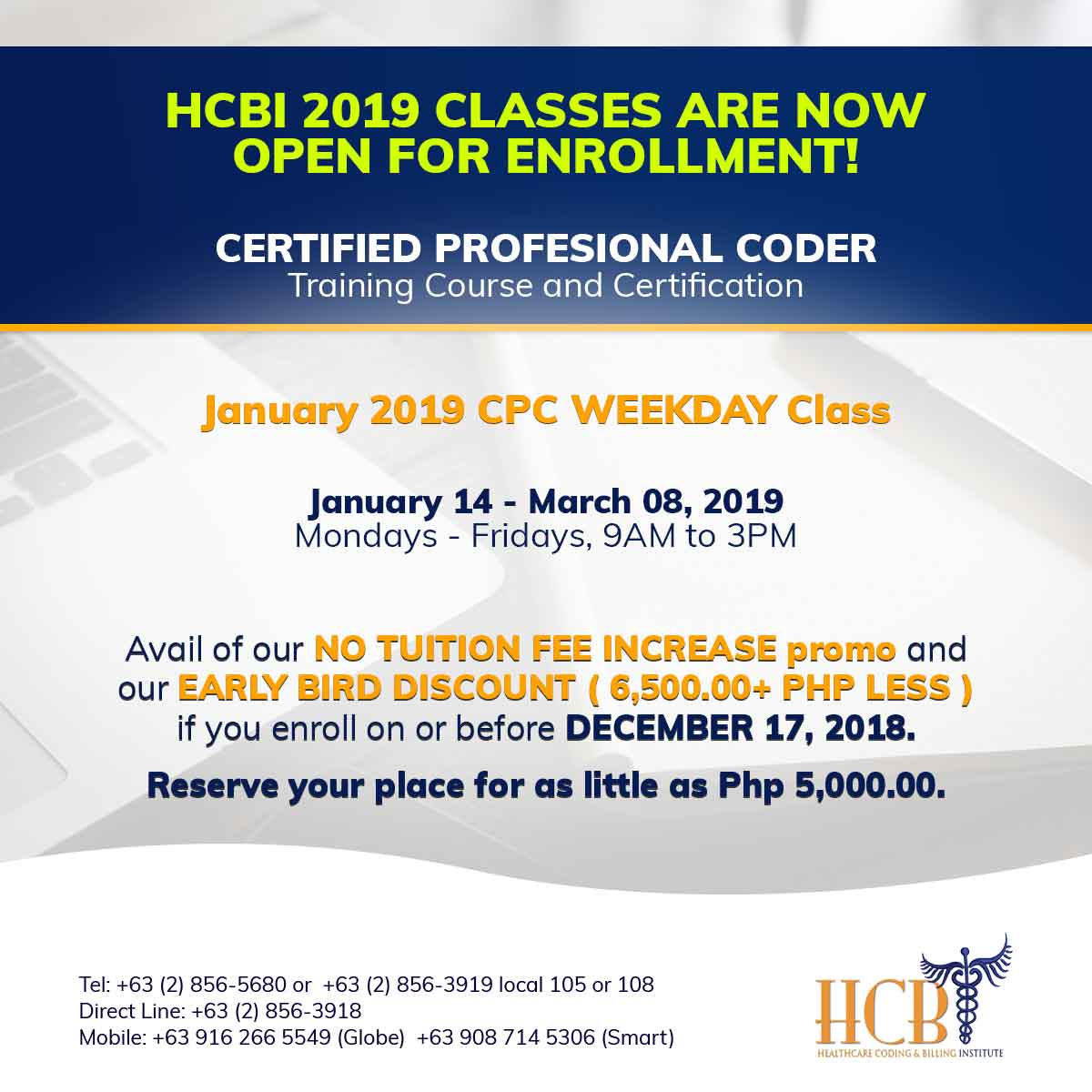 January-2019-CPC-Weekday-Class-Post, hcbi