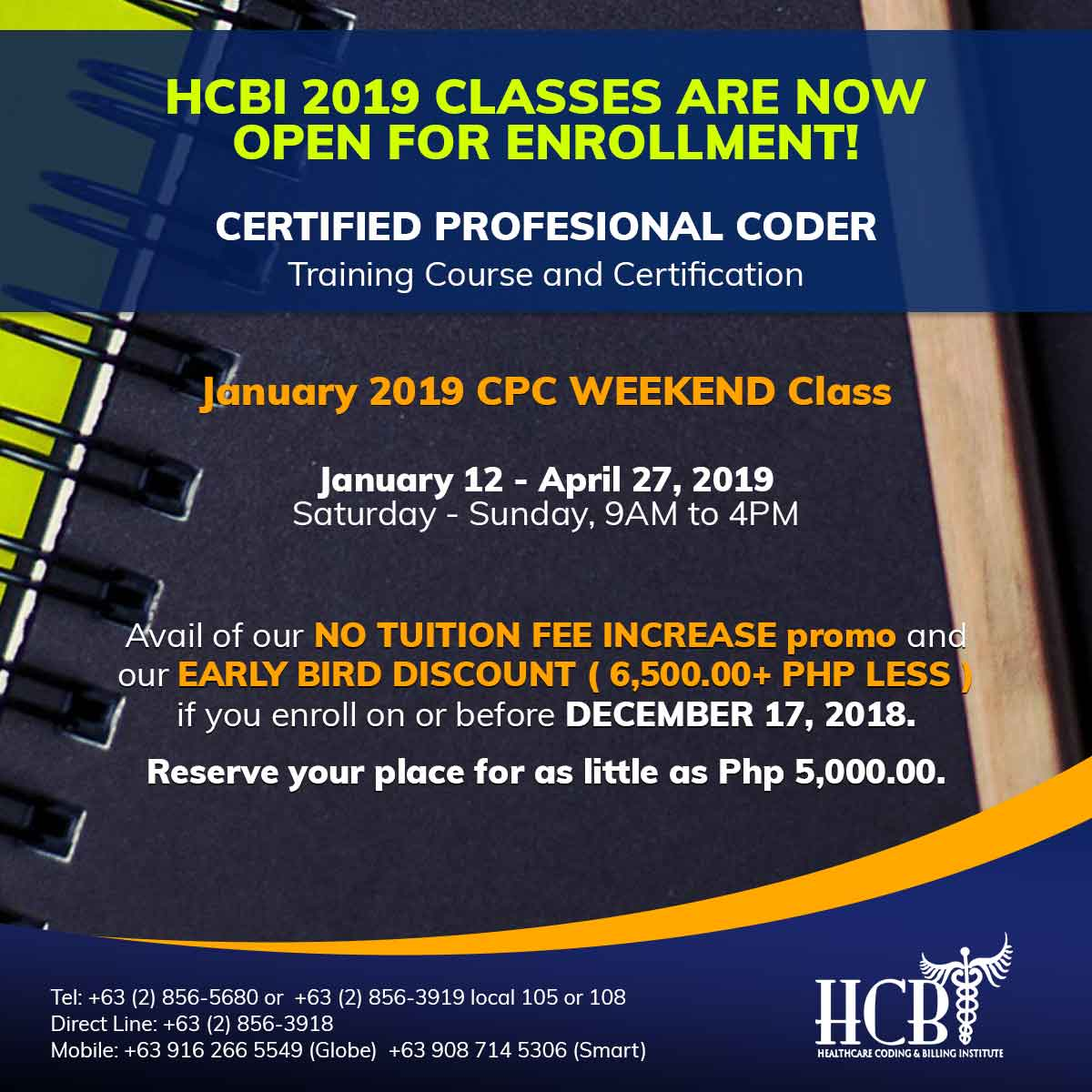 January-2019-CPC-Weekend-Class-Post, hcbi