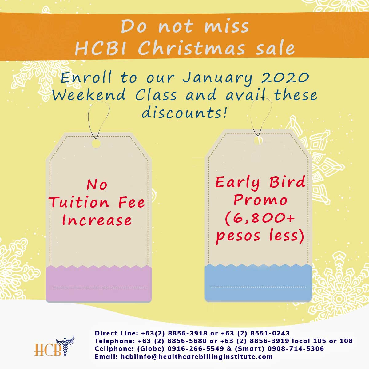 Christmas Sale JWE, hcbi